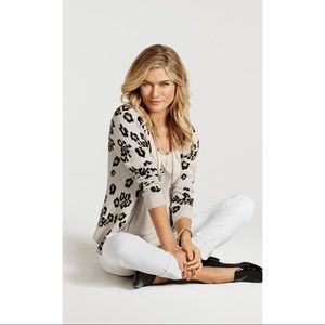 CAbi Animal Print Print Kiki Cardigan Sweater